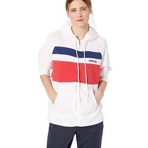 Levi's NWT color block full zip hooded sweatshirt
